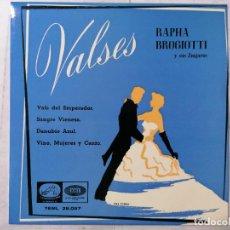 Discos de vinilo: DISCO SINGLE, VALSES, RAPHA BROGIOTTI, VALS DEL EMPERADOR Y TRES MAS, 1958, LA VOZ DE SU AMO. Lote 270138803
