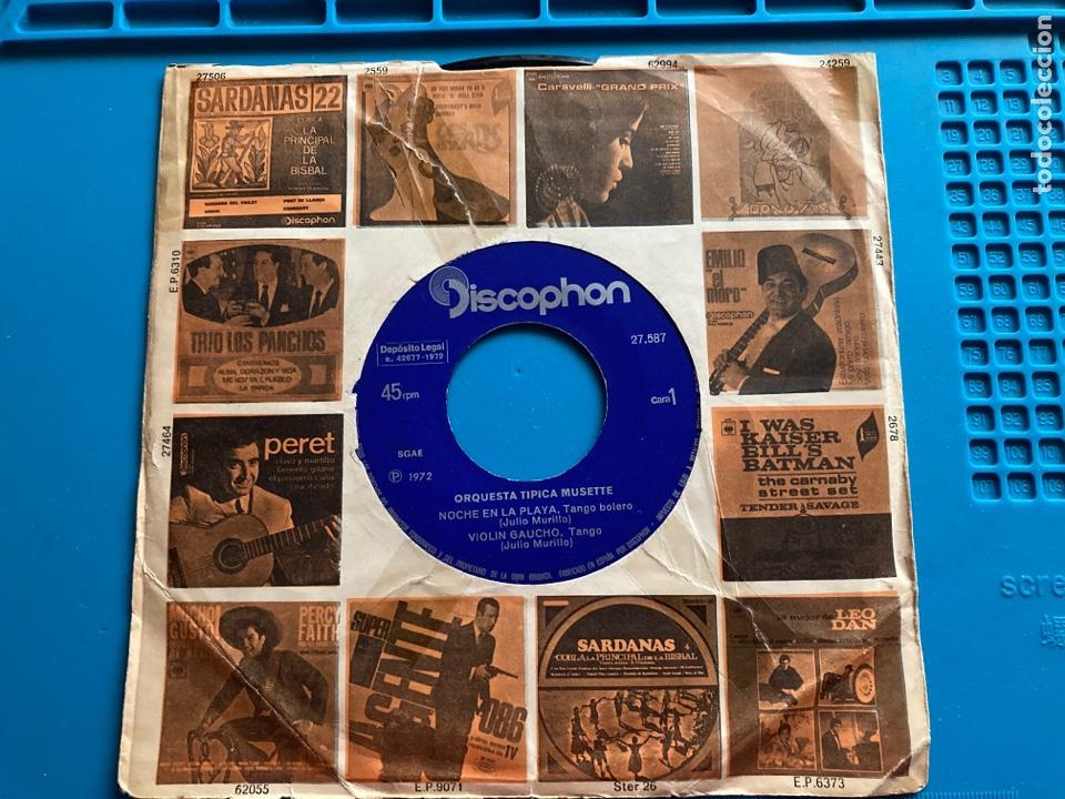 ORQUESTA TIPICA MUSETTE-NOCHE EN LA PLAYA-SG-1972. CARÁTULA PROMOCIONAL (Música - Discos de Vinilo - EPs - Orquestas)