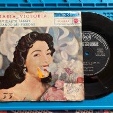 Discos de vinilo: MARIA VICTORIA - OLVIDARTE JAMAS / CUANDO ME PIERDAS (SINGLE A 33 RPM) RCA 1961. Lote 270141368