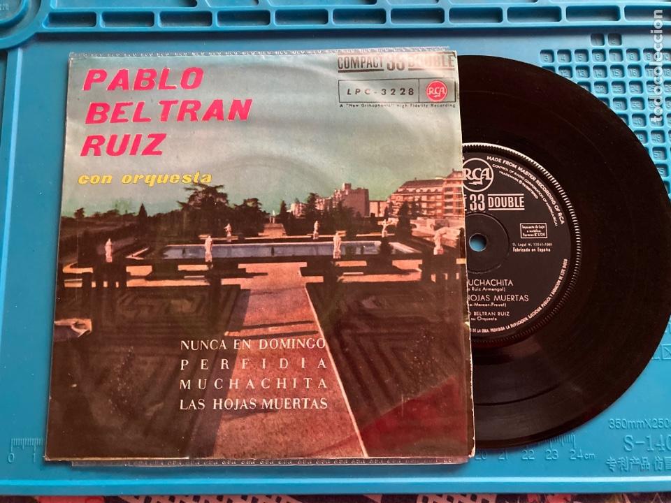 PABLO BELTRAN RUIZ Y SU ORQUESTA. EP 4 CANCIONES 1961 33RPM (Música - Discos de Vinilo - EPs - Orquestas)