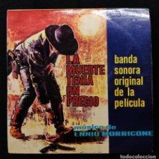 Discos de vinilo: ENNIO MORRICONE - LA MUERTE TENÍA UN PRECIO. Lote 270153103