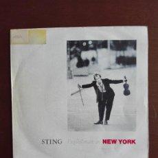 Discos de vinilo: JMFC -DISCO VINILO SINGLE STING - ENGLISHMAN IN NEW YORK. Lote 270154663