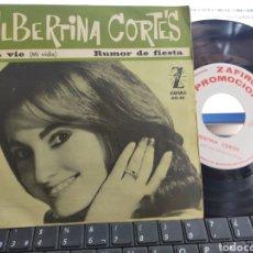 Discos de vinilo: ALBERTINA CORTES SINGLE PROMOCIONAL MA VIE 1964. Lote 270155298