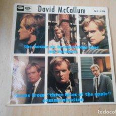 Discos de vinilo: DAVID MCCALLUM, EP, THE HOUSE ON BRECKENRIDGE LANE + 3, AÑO 1968. Lote 270163748