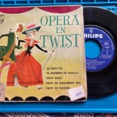 """Discos de vinilo: OPERA EN TWIST 1962 SINGLE """"EL TWIST DE EL BARBERO DE SEVILLA"""". Lote 270164453"""
