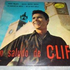 Discos de vinilo: UN SALUDO DE CLIFF RICHARD-MARIA NO MAS-ORIGINAL ESPAÑOL 1963. Lote 270167598