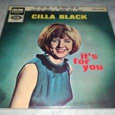 Discos de vinilo: CILLA BLACK-IT´S FOR YOU-ORIGINAL ESPAÑOL 1964. Lote 270167988