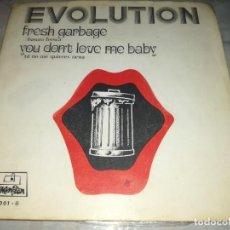 Discos de vinilo: EVOLUTION-FRESH GARBAGE-YOU DON'T LOVE ME BABY-ORIGINAL AÑO 1969. Lote 270170758