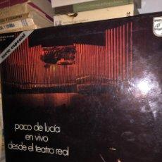 Discos de vinilo: PACO DE LUCÍA EN VIVO DESDE EL TEATRO REAL. Lote 270172933