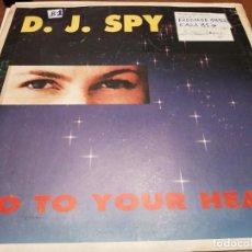 """Discos de vinilo: D.J. SPY – GO TO YOUR HEART. SELLO: PRODISC – P-008-B. 12"""". ITALO DISCO. VG+ / VG. Lote 270173493"""