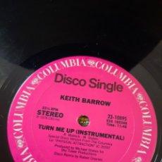Discos de vinilo: KEITH BARROW - TURN ME UP. EDICION USA. Lote 270205563