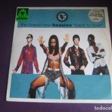 Discos de vinilo: THE BRAND NEW HEAVIES – BACK TO LOVE - MAXI SINGLE ACID JAZZ 1994 - LEVE USO DJ. Lote 270217493