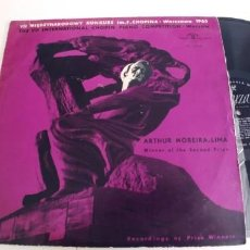 Discos de vinilo: ARTHUR MOREIRA-LIMA-LP THE VII INTERNATIONAL CHOPIN COMPETITION WARSAW 1965. Lote 270244358