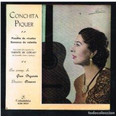 Disques de vinyle: CONCHITA PIQUER - PICADITA DE VIRUELA / ROMANCE DE VALENTIA - SINGLE 1963. Lote 270248363