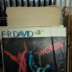 Discos de vinilo: F-R DAVID - WORDS. Lote 270255248