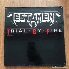 "Discos de vinilo: TESTAMENT - TRIAL BY FIRE - 12"" MAXISINGLE MEGAFORCE EUROPE 1988. Lote 270255658"