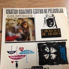 Discos de vinilo: CUATRO GRANDES EXITOS DE PELICULAS - VINILO. Lote 270258088