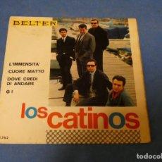 Discos de vinilo: DISCO 7 PULGADAS BEAT LOS CATINOS L IMMENSITA ESTADO DECENTE DE USO 1967. Lote 270258408