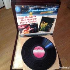 Discos de vinilo: LA GRANDE STORIE DEL ROCK , HENDRIX , MARLEY , PERCY SLEDGE , LP 1981 , REGGAE, ROCK.. Lote 270259048