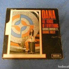 Discos de vinilo: DISCO 7 PULGADAS SINGLE EUROVISION ESPAÑA 1970 DANA ALL KINDS EVERYTHING EUROVISION 1970 VINILO K. Lote 270260323
