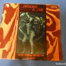 Discos de vinilo: DISCO 7 PULGADAS SINGLE FUNK SOUL SPOOK Y AND SOUL DID YOU DIG IT 1976 BUEN ESTADO. Lote 270260988