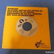 Discos de vinilo: DISCO 7 PULGADAS SINGLE LUCIO BATTISTI 1980 PROMO WHITE LABEL LA CINTA ROSA, UNA TRISTE JORDADA. Lote 270261463