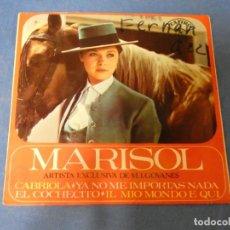 Discos de vinilo: DISCO 7 PULGADAS EP MARISOL CABRIOLA BUEN ESTADO GENERAL. Lote 270261608