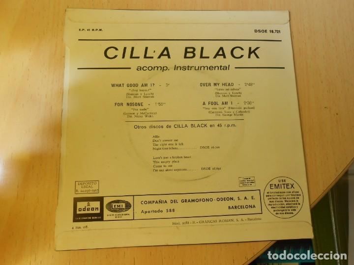 Discos de vinilo: CILLA BLACK, EP, WHAT GOOD AM I ? + 3, AÑO 1967 - Foto 2 - 270343163