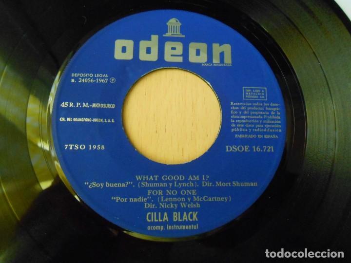 Discos de vinilo: CILLA BLACK, EP, WHAT GOOD AM I ? + 3, AÑO 1967 - Foto 3 - 270343163