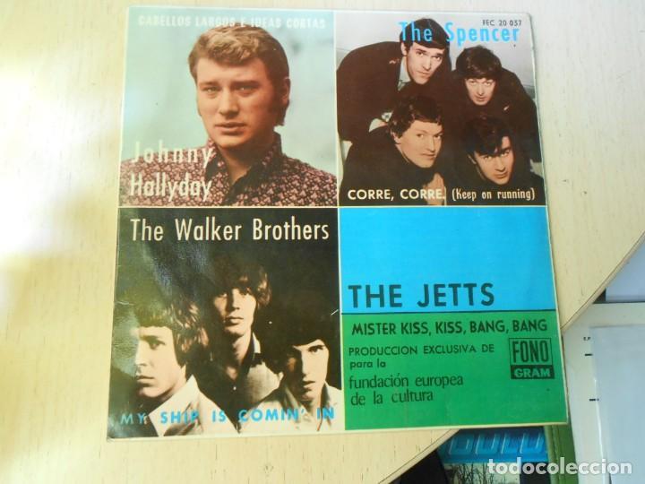 FUNDACION EUROPEA DE LA CULTURA 1966, EP, JOHNNY HALLYDAY - CABELLOS LARGOS + 3, AÑO 1966 (Música - Discos de Vinilo - EPs - Pop - Rock Internacional de los 50 y 60)