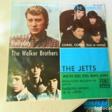 Discos de vinilo: FUNDACION EUROPEA DE LA CULTURA 1966, EP, JOHNNY HALLYDAY - CABELLOS LARGOS + 3, AÑO 1966. Lote 270345023