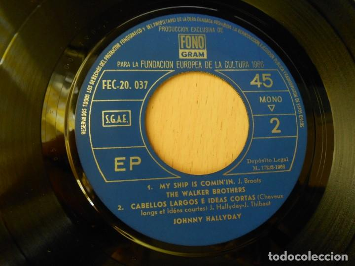 Discos de vinilo: FUNDACION EUROPEA DE LA CULTURA 1966, EP, JOHNNY HALLYDAY - CABELLOS LARGOS + 3, AÑO 1966 - Foto 4 - 270345023