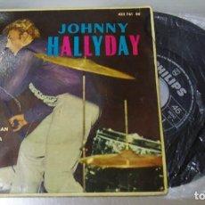 Discos de vinilo: JOHNNY HALLYDAY ----I GOT A WOMAN / BE BOP A LULA + 2 EDICION AÑO 1963 -(VG+ ) (VG+ ). Lote 181695770