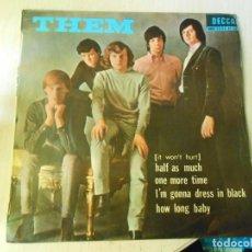 Discos de vinilo: THEM,, EP, (IT WON´T HURT) HALF AS MUCH + 3, AÑO 1965 PROMOCION. Lote 270348173