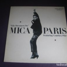 Discos de vinilo: MICA PARIS FEATURING COURTNEY PINE – LIKE DREAMERS DO - MAXI SINGLE 4TH BROADWAY 1988 - SOUL DISCO. Lote 270349833