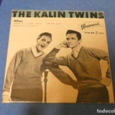 Discos de vinilo: DISCO 7 PULGADAS EP THE KALIN TWINS WHEN, MUY BUEN ESTADO PEQ ESCRITO ATRAS 1961. Lote 270350783