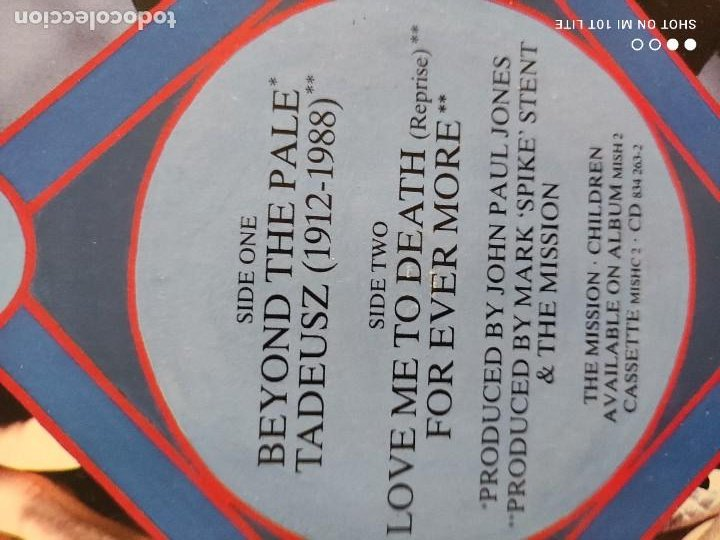 Discos de vinilo: JOYA MAXI. THE MISSION - BEYOND THE PALE. UK. 1988. SELLO MERCURY MYTHX6. - Foto 6 - 270350978