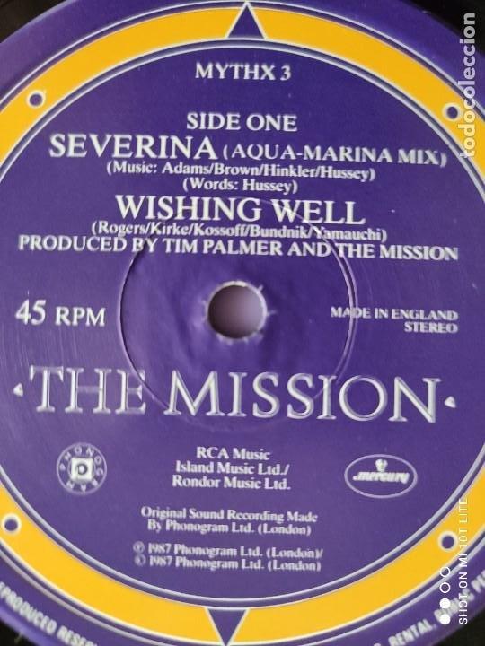Discos de vinilo: DIFICIL . MAXI. THE MISSION . SEVERINA. AÑO 1987. SELLO MERCURY MYTHX 3. UK. - Foto 7 - 270354238