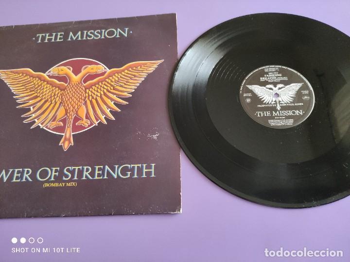 RARO MAXI. THE MISSION / TOWER OF STRENGTH. IMPORTACION UK. AÑO 1987. SELLO MERCURY MYTHX 422. (Música - Discos de Vinilo - Maxi Singles - Pop - Rock - New Wave Internacional de los 80)