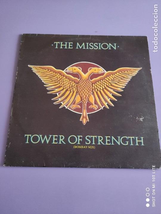 Discos de vinilo: RARO MAXI. THE MISSION / TOWER OF STRENGTH. IMPORTACION UK. AÑO 1987. SELLO MERCURY MYTHX 422. - Foto 2 - 270355618