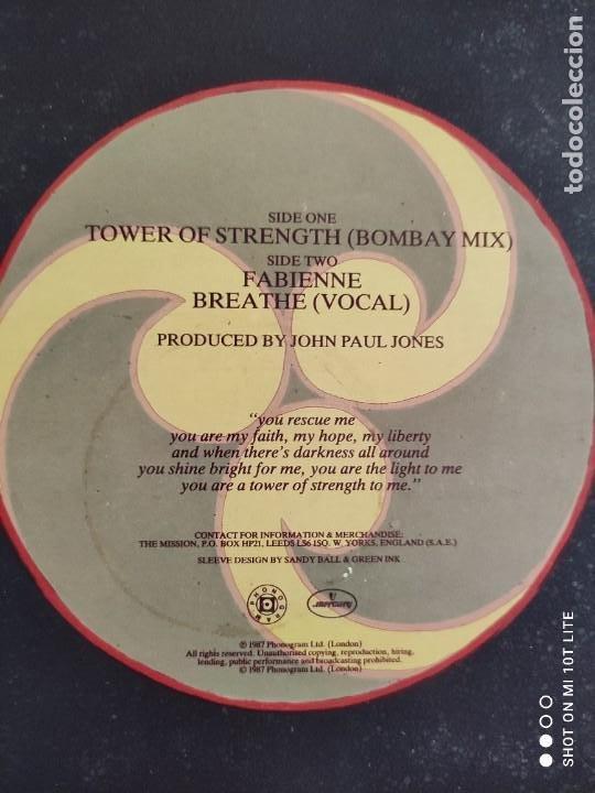 Discos de vinilo: RARO MAXI. THE MISSION / TOWER OF STRENGTH. IMPORTACION UK. AÑO 1987. SELLO MERCURY MYTHX 422. - Foto 4 - 270355618