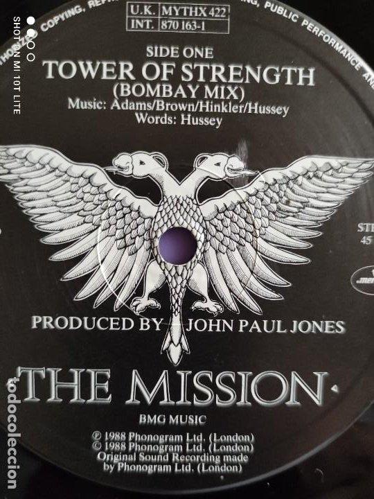 Discos de vinilo: RARO MAXI. THE MISSION / TOWER OF STRENGTH. IMPORTACION UK. AÑO 1987. SELLO MERCURY MYTHX 422. - Foto 6 - 270355618