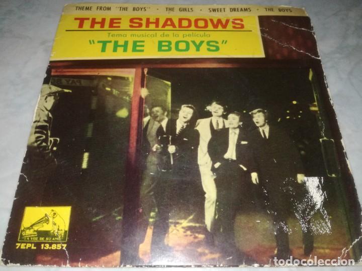 THE SHADOWS-TEMA MUSICAL DE LA PELICULA THE BOYS-ORIGINAL ESPAÑOL 1962 (Música - Discos de Vinilo - EPs - Pop - Rock Internacional de los 50 y 60)