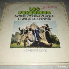 Discos de vinilo: LOS PEKENIKES-NOBLES CONTRA VILLANOS-ORIGINAL AÑO 1971. Lote 270377943