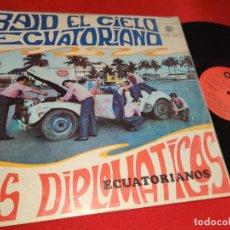 Discos de vinilo: LOS DIPLOMATICOS BAJO EL CIELO ECUATORIANO LP ONIX ECUADOR LATIN CUMBIA PACHANGA POMPO. Lote 270379133