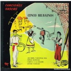 Discos de vinilo: LOS CINCO BILBAINOS - ASI ERES, VASCONIA MIA / NIÑAS BONITAS + 2 - SINGLE 1958 - SOLO PORTADA. Lote 270404453