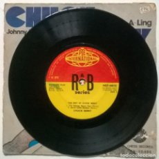 Discos de vinilo: CHUCK BERRY. THE BEST: MEMPHIS TENNESSSEE/ ROLL OVER BEETHOVEN/ I'M TALKING ABOUT YOU +1. PYE 1960. Lote 270406633