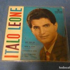 Discos de vinilo: DISCO 7 PULGADAS EP ESPAÑOL BUEN ESTADO GENEORE ITALO LEONE MANY YEARS AGO 1961. Lote 270409313