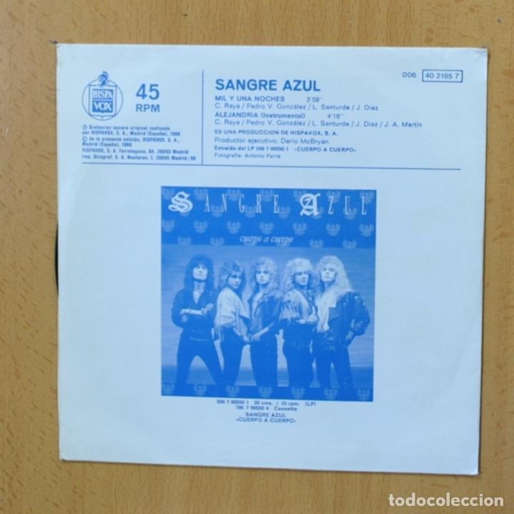 Discos de vinilo: SANGRE AZUL - MIL Y UNA NOCHES - SINGLE - Foto 2 - 270555198