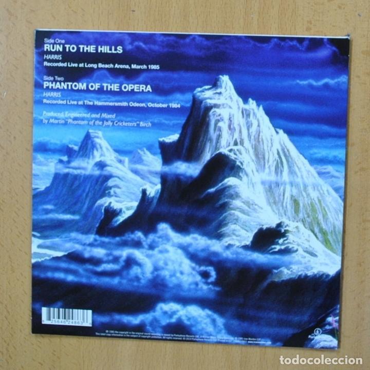 Discos de vinilo: IRON MAIDEN - RUN TO THE HILLS - SINGLE - Foto 2 - 270555238